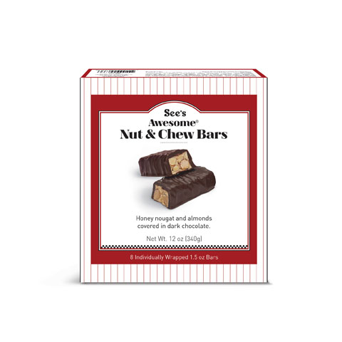 See's Awesome® Nut & Chew Bars product view