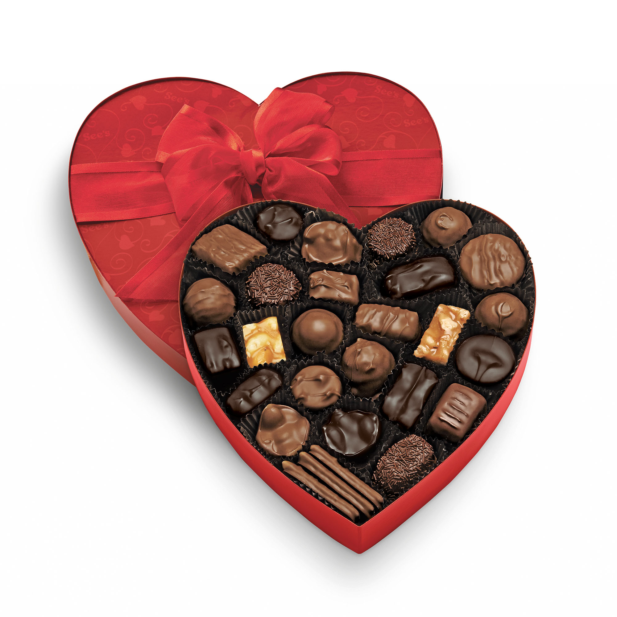 View of Classic Red Heart, Assorted Chocolates 1