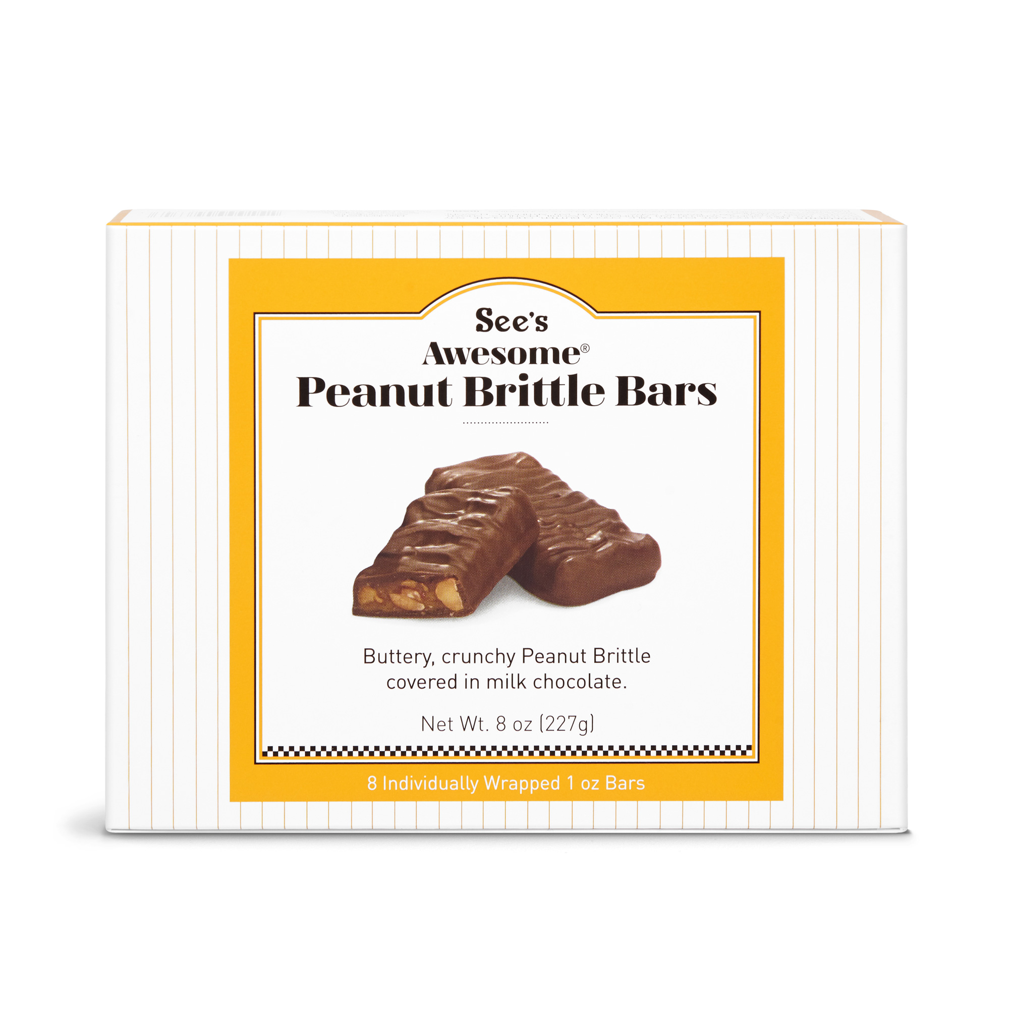 View of See's Awesome® Peanut Brittle Bars
