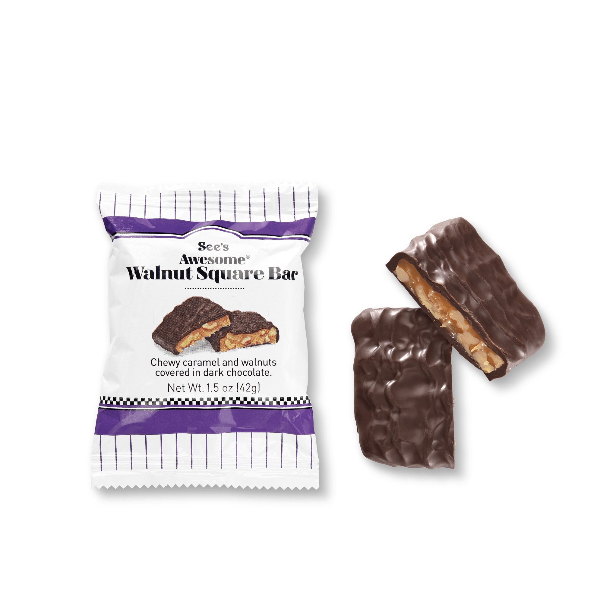View of See's Awesome® Walnut Square Bars 2