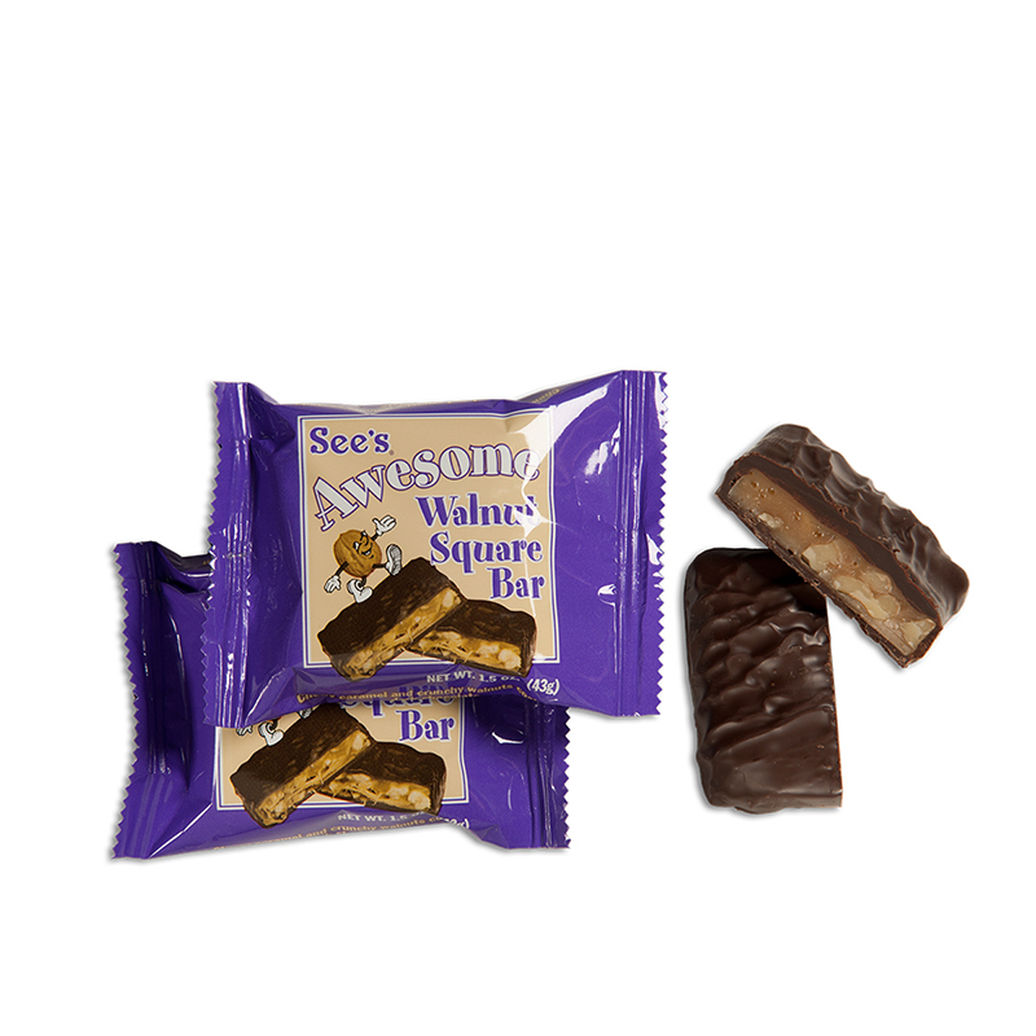 View of See's Awesome® Walnut Square Bars