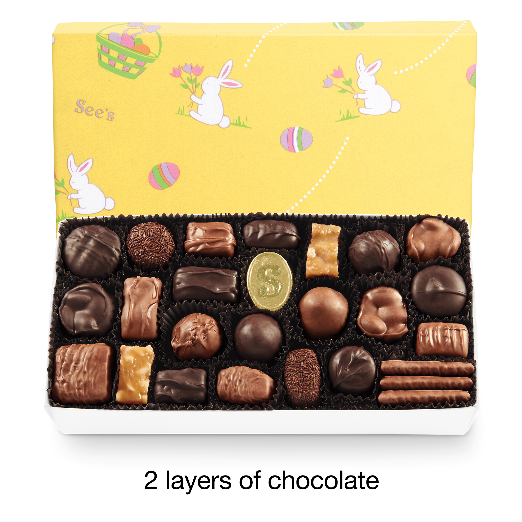 View of Assorted Chocolates