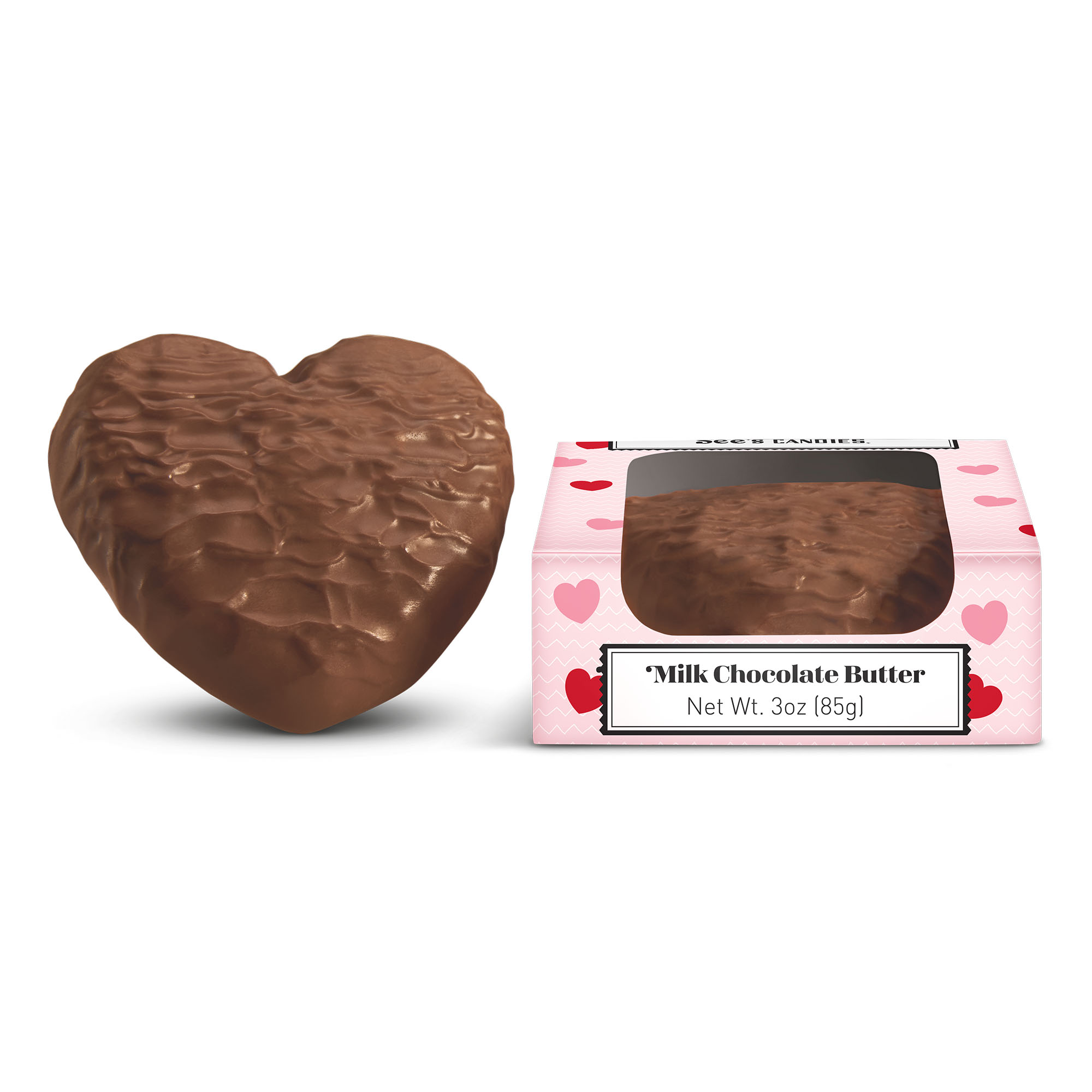 View of Milk Chocolate Butter Heart